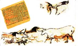 papyrus & cave paintings